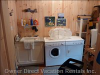 Laundry Room  Sink and Fullsize Washer and Dryer