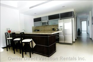 Penthouse Island & Kitchen Area (Similar to, but May Not be this Unit)