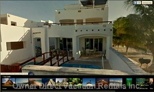 Ocean Or North Side of Beach Vacation Rental Villa, Castillonicte-Ha,  Chicxulub, Yucatan, Mexico.