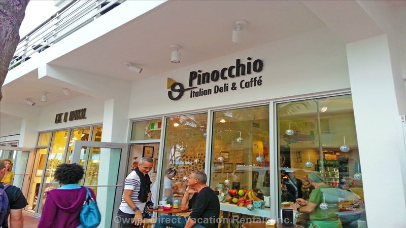 Famous Pinochio Cafe around the Corner