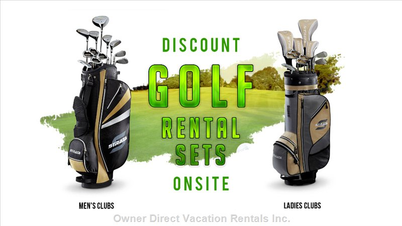 Discount Golf Rental Sets Onsite