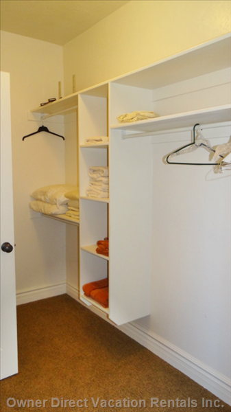 Main Floor Master Bedroom'S Walk-in Closet
