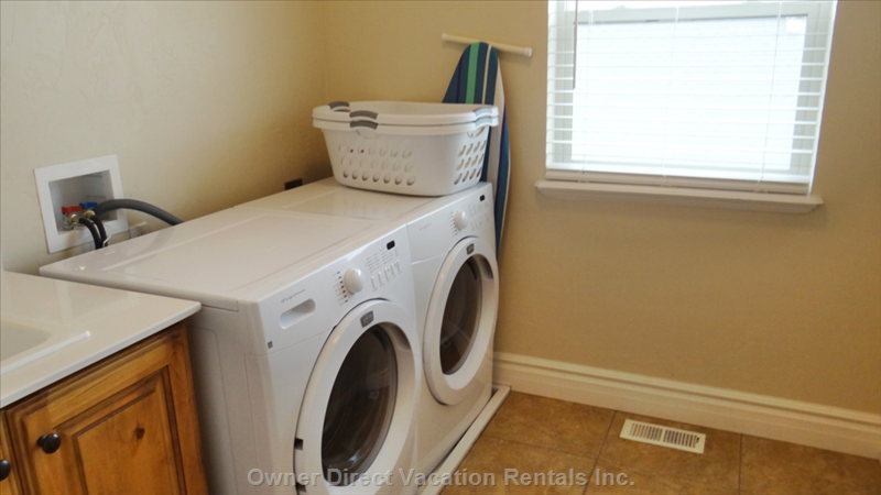 Laundry Room, Located on the Main Floor