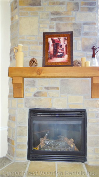 Gas Fireplace in Greatroom
