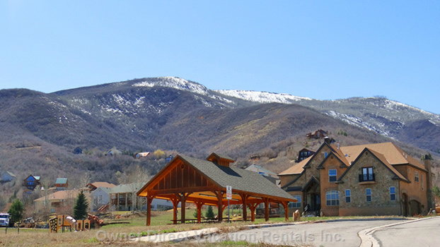 Another View of the Park Area, to Show the Beautiful Mountain Backdrop. - Photo Was Taken in the Month of March