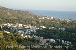 Located in an Altitude with Incredible Sea View over the Golf of Milatos and It's Traditional Village.