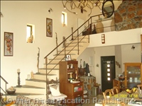 View Internal Traditional Villa. Staircase Leads to the First Floor Where There are 2 Bedrooms and a bathroom.View from Ground Floor