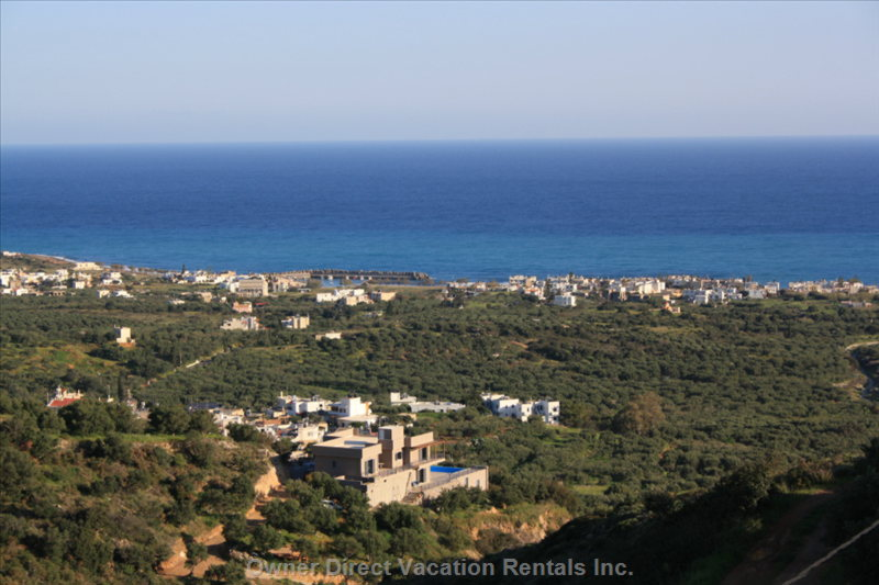 Seaside Milatos, Incredible View from Villa