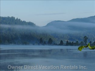 Morning Mist on the Lake.