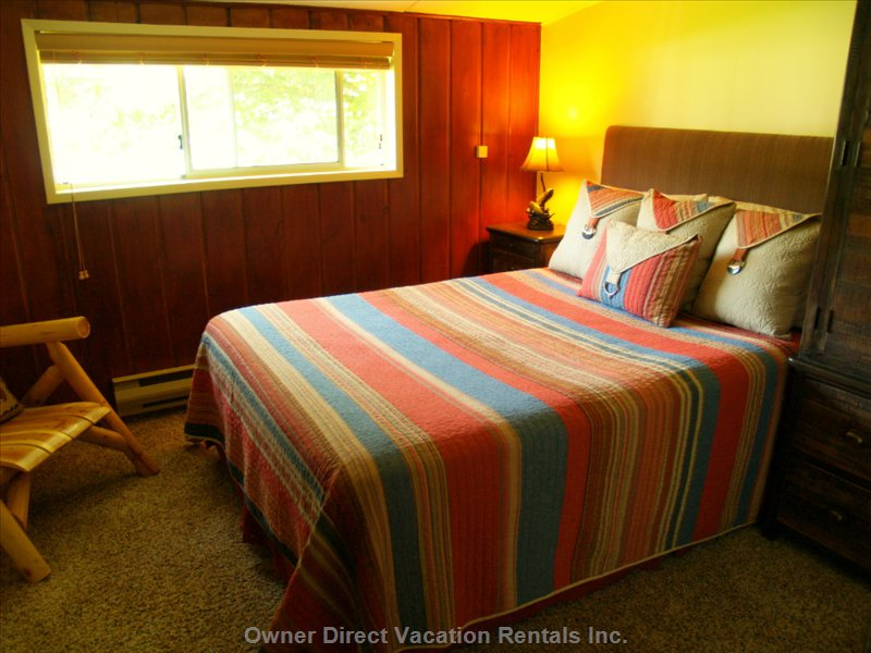 Upstairs Middle Bedroom with Double Bed. ( the Third Upstairs Bedroom has a Single...Great for a Child!)