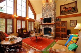 Cozy up to a Nice Fire in the Grand Living Room.