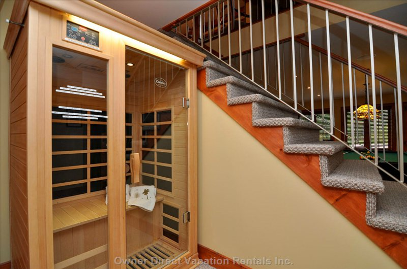 Therapeutic Sauna for Two on Lower Level.