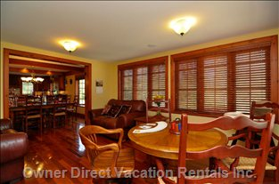 4 Season Sunroom with Card Table.