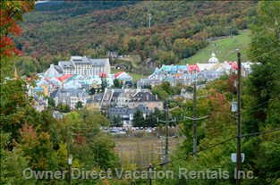 View of Tremblant's Pedestrian Village Just down the Street. Walk There in 10 Min. Take the Free Resort Shuttle. Stops at Front Door