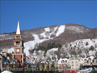 Close up View of the Base of Mont Tremblant