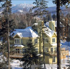 Our Ski Chalet with a Great View of Mont Tremblant in the Background.
