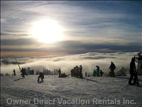 Tremblant - Last Run - View from above the Clouds