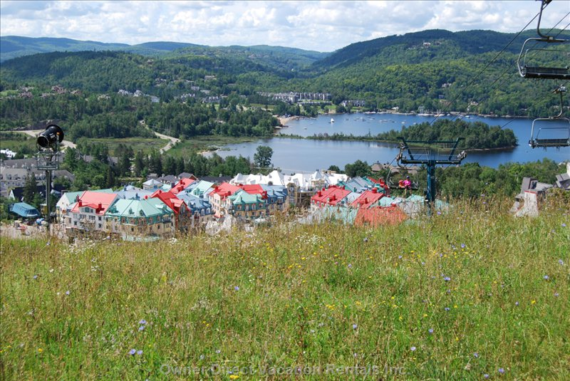 Mont Tremblant Village from the Slopes