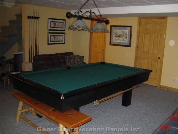 Pool Table in Finished Basament