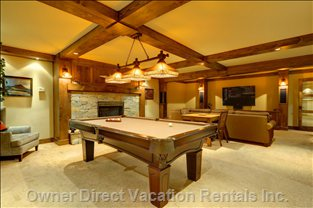 Recreation Room - with a Pool Table and the Sound System Provides Wireless Access to Rdio'S Entire Music Library.