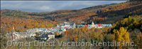 View of Tremblant Village from the Front Door.