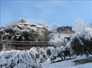 View of the House and its Surroundings in one of the little Snow that Have Fallen in Recent Years