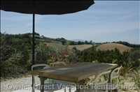 The Private Terrace has Stunning Views over the Vinyards.