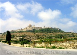 The Old Citadel of Mdina (Can be Seen from the Roof Terrace)