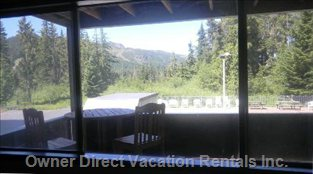 Enjoy the View of the Pool and Ski Runs from your Deck