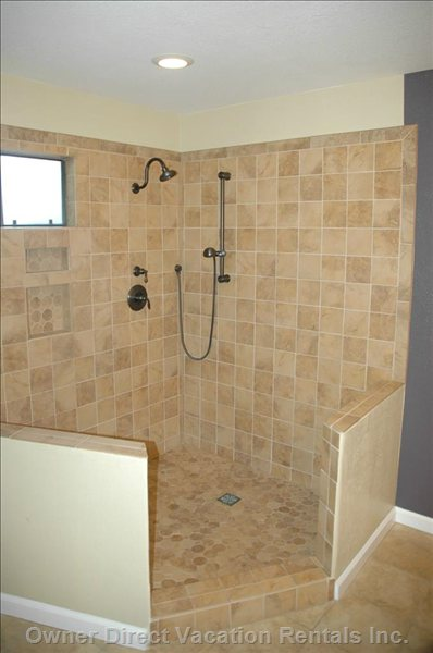 Master Bathroom has a Beautiful Shower - 2nd Floor