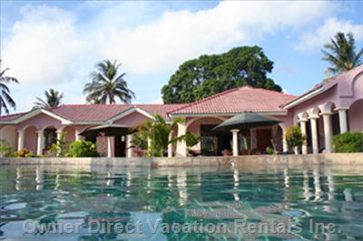 Villa at the Indian Ocean Inlet Mtwapa Creek at Mombasa North Coast - View from Pool