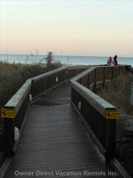 Great Boardwalk Brings you Straight to the Beach