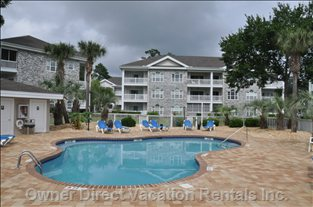 Pool is Right beside the Condo, However you Have 16 of them to Choose from within Myrtlewood!