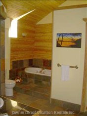 The Bathroom - Soaker Tub, Grotto Shower, Heated Tiles