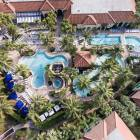 Aerial Photo of Resort, Swimming Pools, Lazy River, Hot Tubs, Gym, Tennis Courts, Spa, Sauna