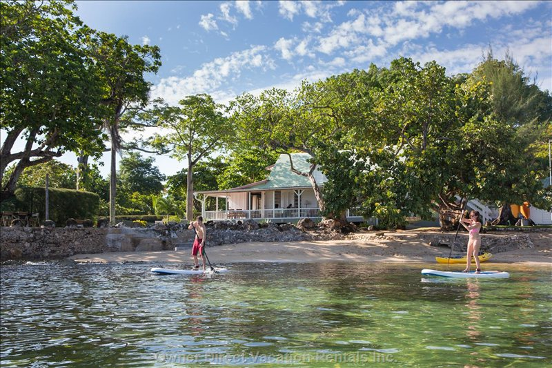 Paddle Boarding with Four Boards Available