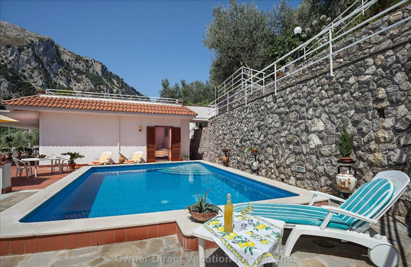 The Swimming Pool is Situated on a Very Private Terrace