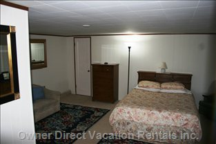 The Master Bedroom.  There is Also a Very Comfortable Queen Size Coil Spring Sleeper Couch in the Living Room.