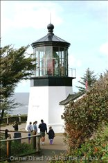 The Famous Cape Meares Lighthouse -- 5 Miles North of us on Cape Meares.