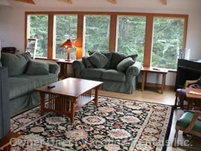 Living Room, Looking South Towards the Creek and the Bay
