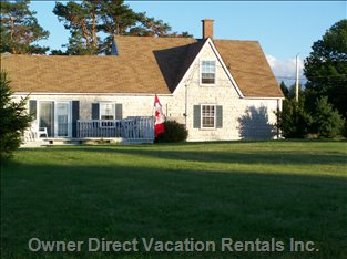 The House Sits on a Large Countryside Lot Overlooking the Northumberland Strait.
