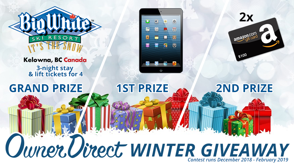 Owner Direct's 2018-19 Winter Giveaway