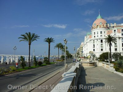 Negresco Hotel and Promenade Des Anglais - 3 to 4 Minutes Walk from the Apartment