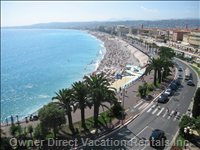 Bay of Nice Showing the Promenade