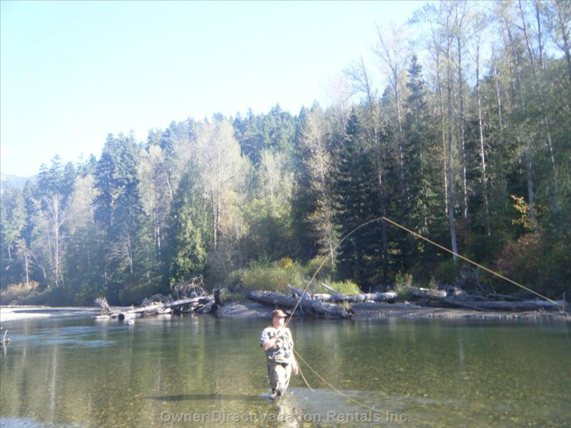 Local Fly Fishing in many Lakes and Rivers.