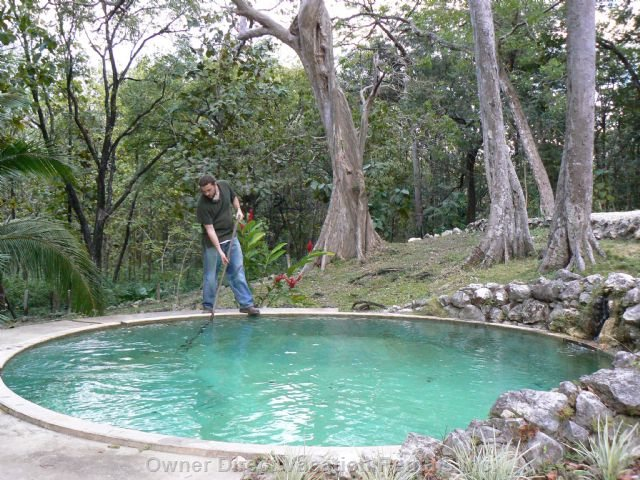 The Pool is Fed Continuously by a Natural Spring
