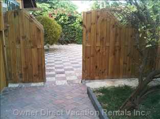 Fenced Entrance - for Privacy.