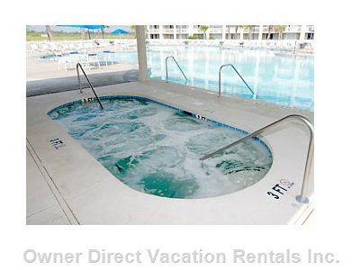 Guests Can Use the Main Hot Tub at the Resort Pool
