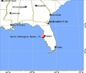 North Redington Beach on Florida Map
