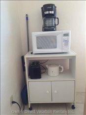 Microwave, Coffee Maker, Toaster, Kettle